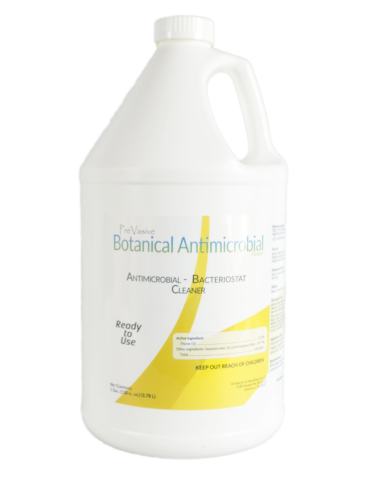 Made with botanical ingredients, PreVasive Botanical Antimicrobial cleaner will stop odor causing bacteria & prevent mold. Perfect for mold remediation projects, neutralizing odor leaving no harmful residue. Non-corrosive, non-staining, made in the USA, ready to use formula. SDS-AD SHEET