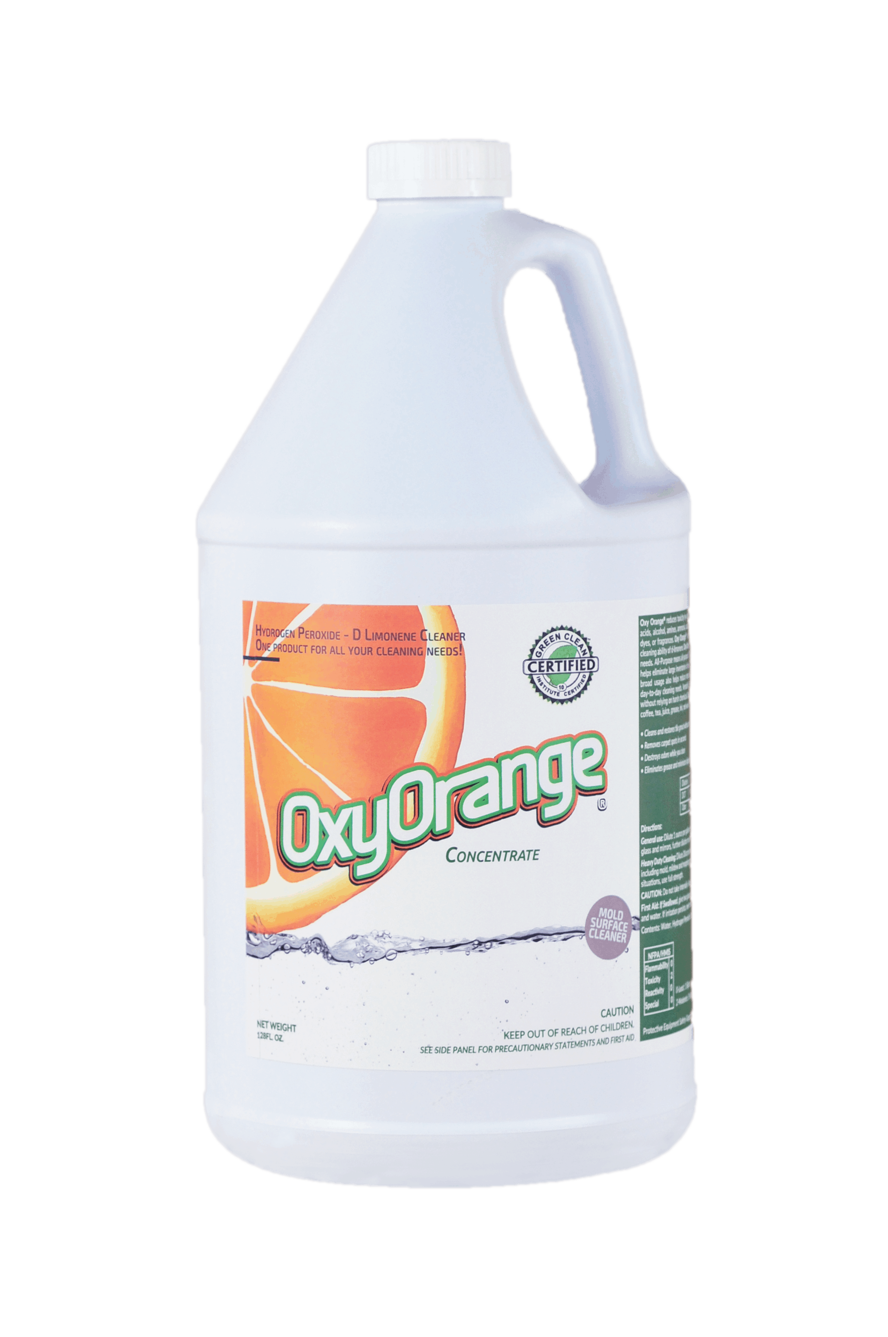 Oxy Orange target specific soils, stains, odors and cleans mold